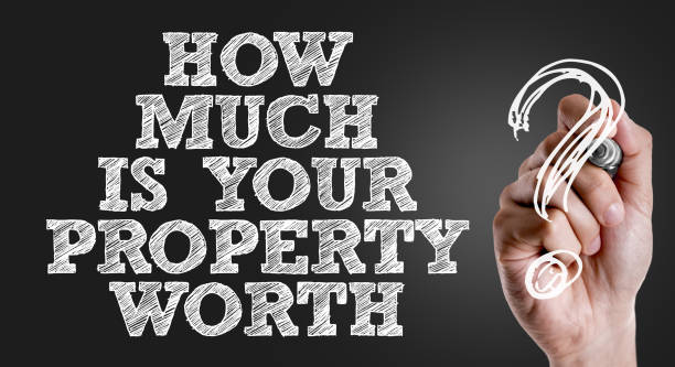 How Much is Your Property Worth? How Much is Your Property Worth? sign real estate sign stock pictures, royalty-free photos & images
