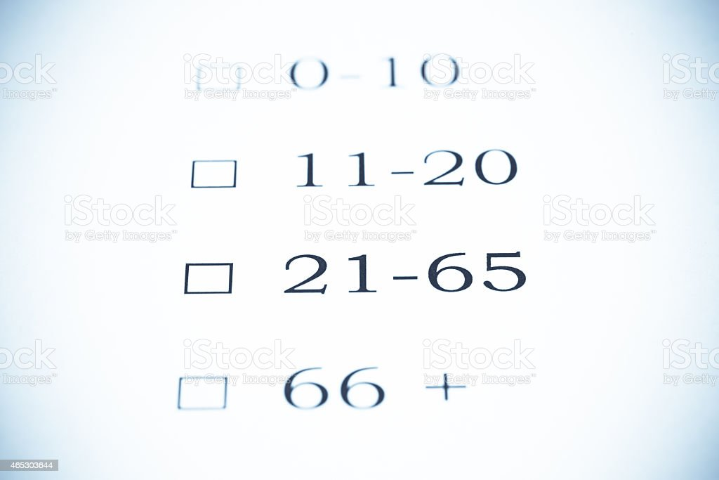 How old are you ? - Selenium Tone stock photo