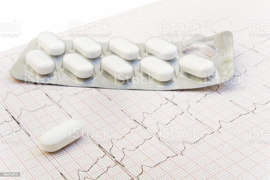 How Pills Affect the Heart Rate stock photo