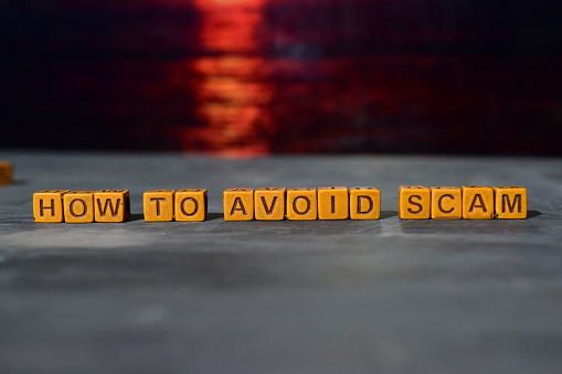 How To Avoid Scam On Wooden Blocks Stock Photo - Download Image Now