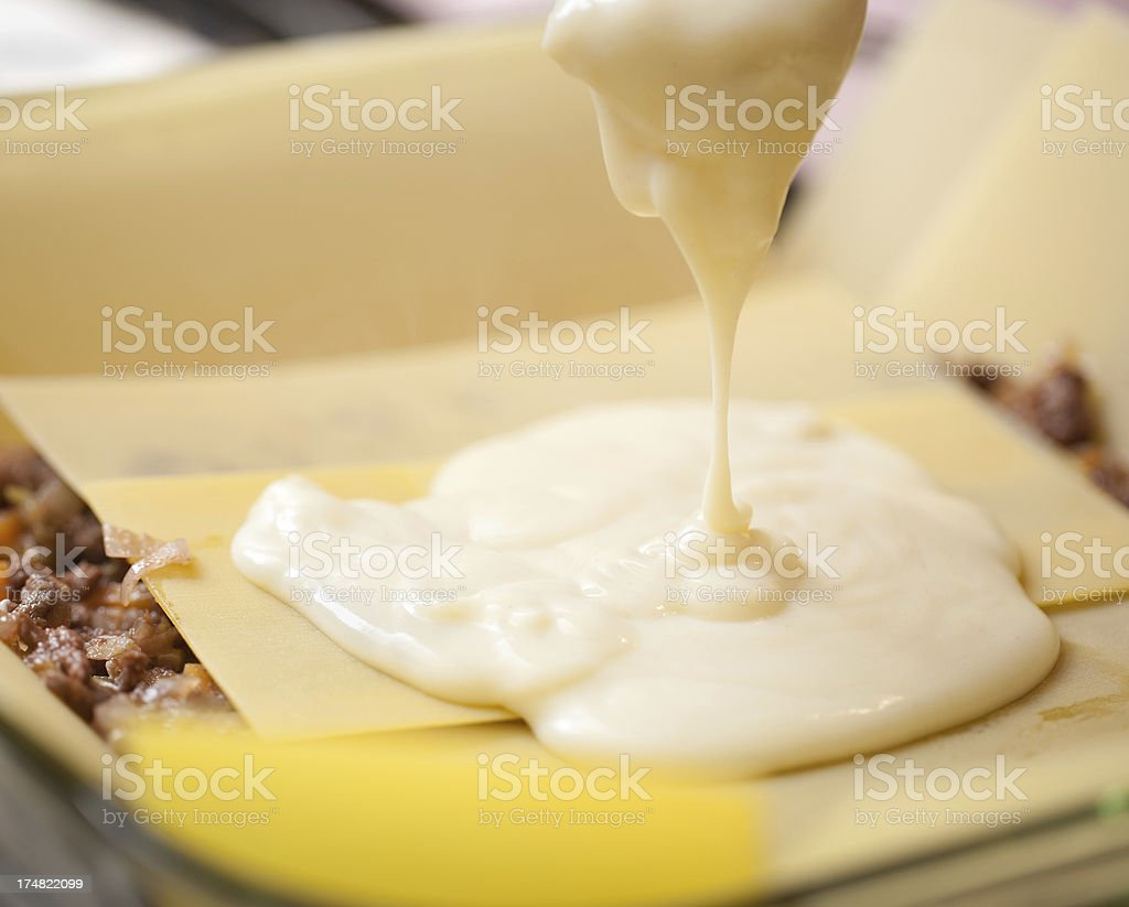 How to cook Lasagne royalty-free stock photo