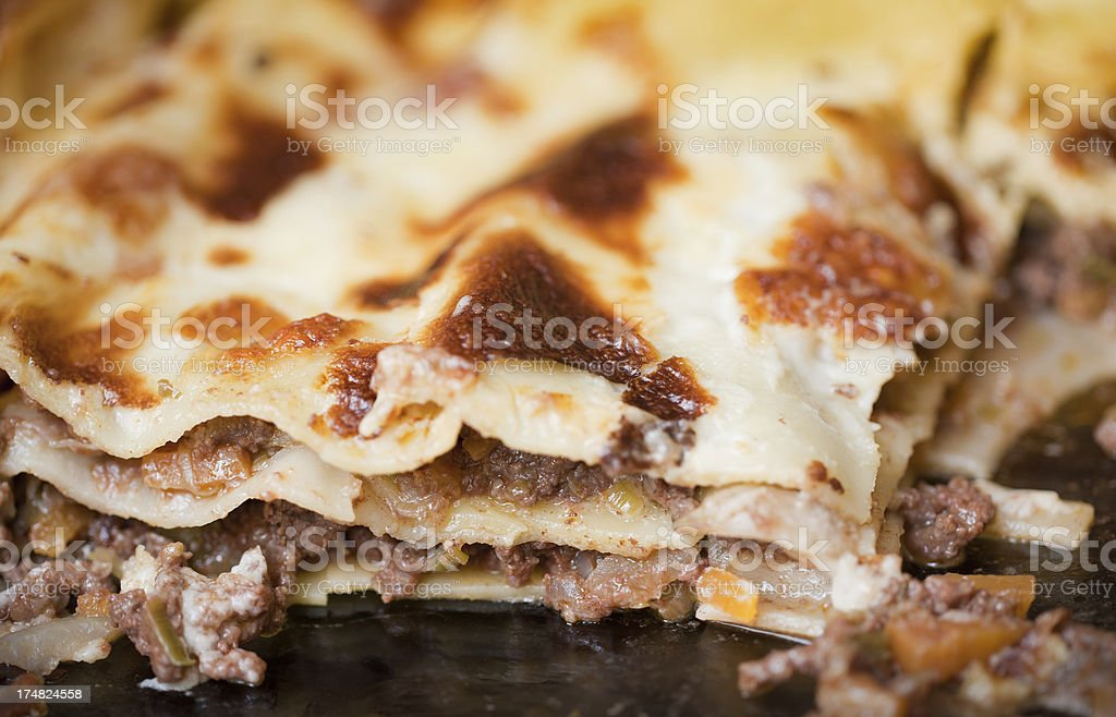 How to cook Lasagne - the finished product royalty-free stock photo