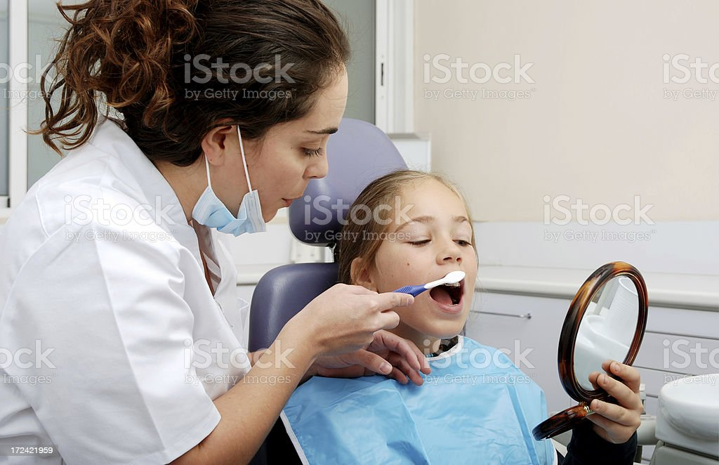 How to do brush your teeth (Dentist Series) royalty-free stock photo