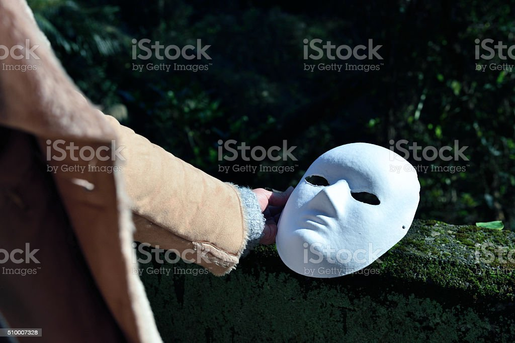 How to face the true self stock photo