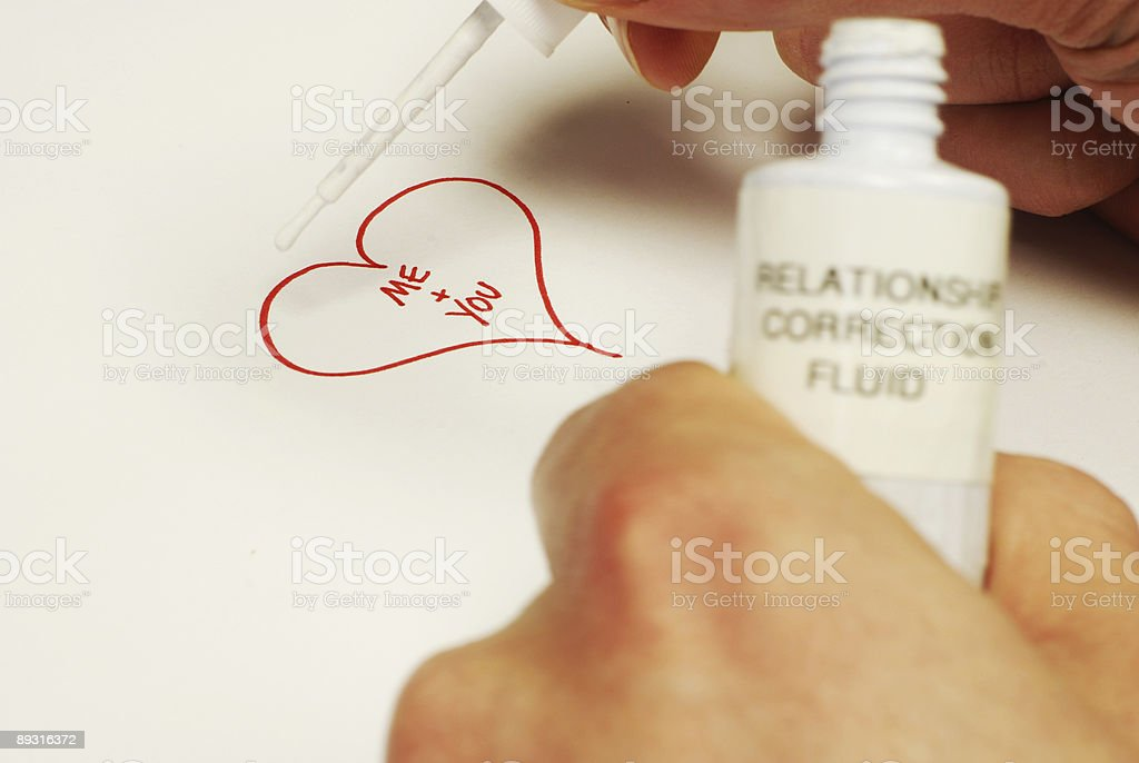 How to fix a bad relationship stock photo