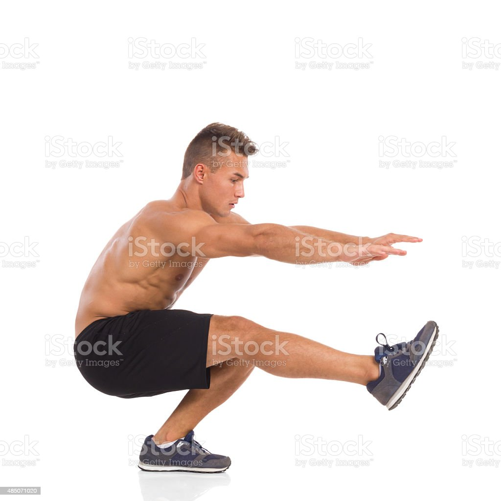 How To Make a One Leg Squat stock photo