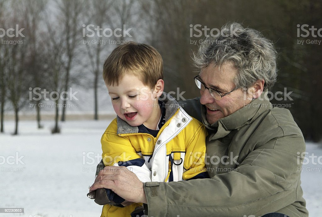 How to make a snowball royalty-free stock photo