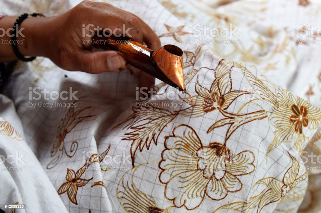 how to make batik stock photo