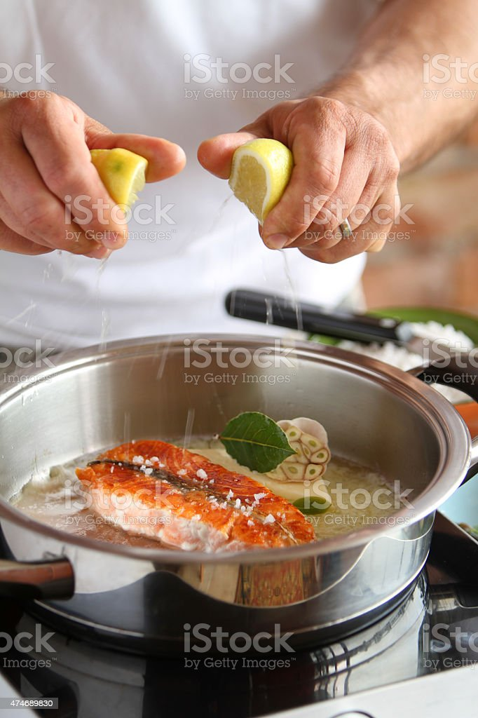 how to make salmon stock photo