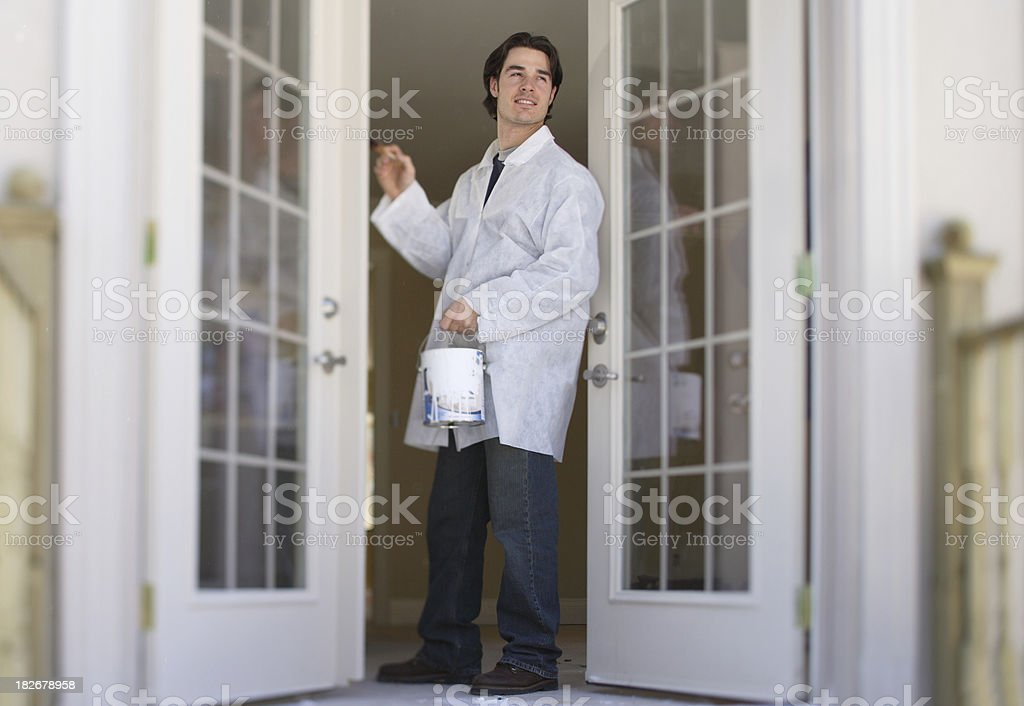 How to paint a French Door royalty-free stock photo