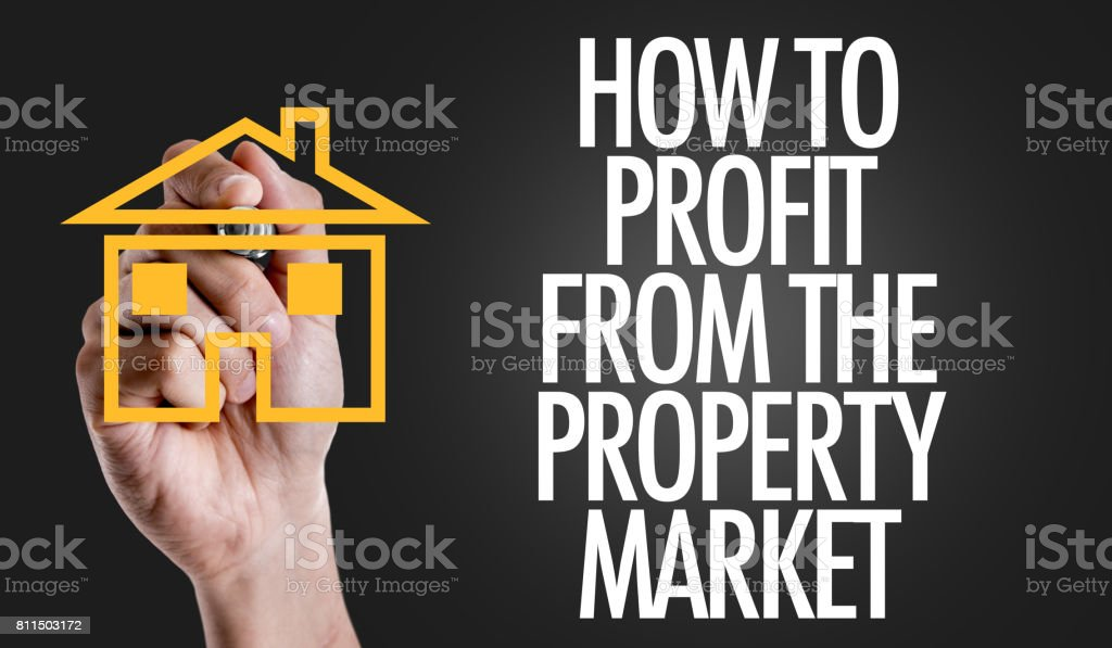 How To Profit From the Property Market stock photo