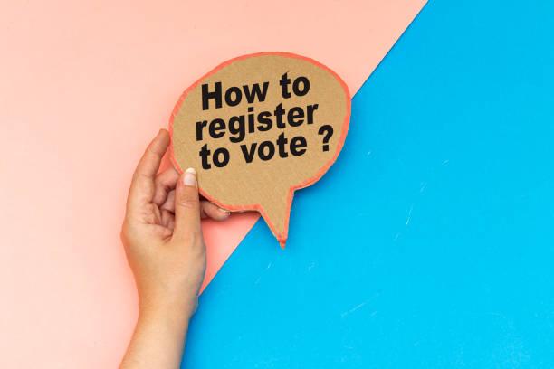 Wie kann man sich zur Wahl anmelden? Auf Sprachblase – Foto