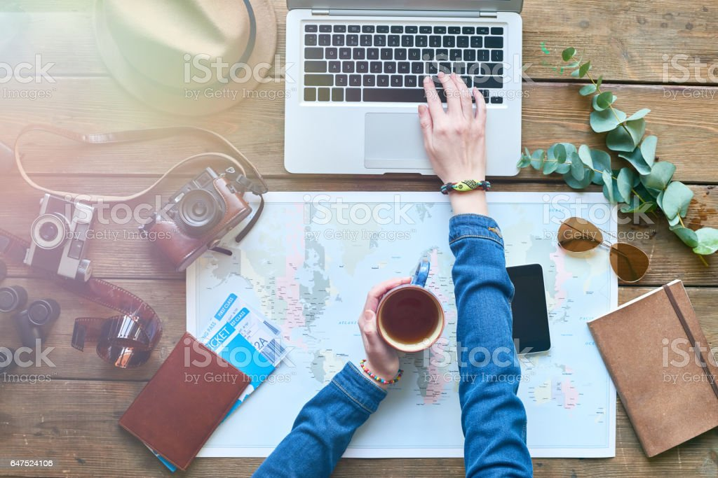 How to spend vacations? stock photo