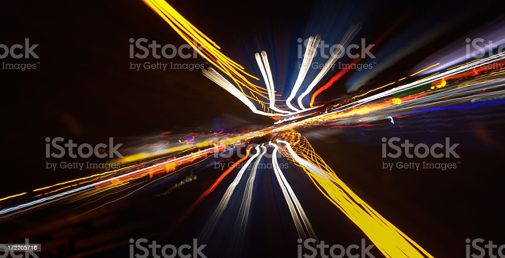 How traffic lights look in speed stock photo