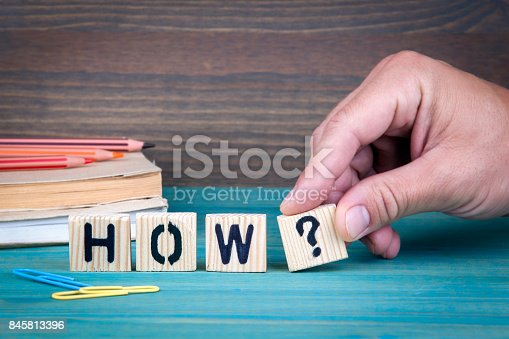 1031235468 istock photo How. Wooden letters 845813396