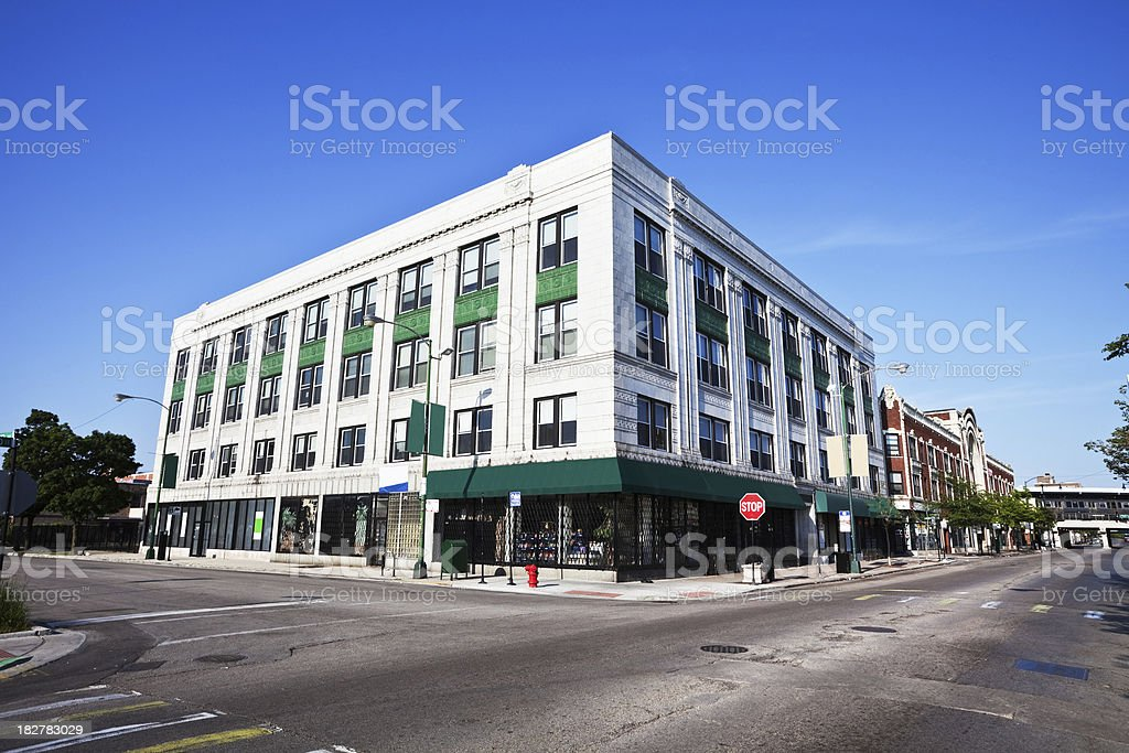 Howard Street Shops in Chicago royalty-free stock photo