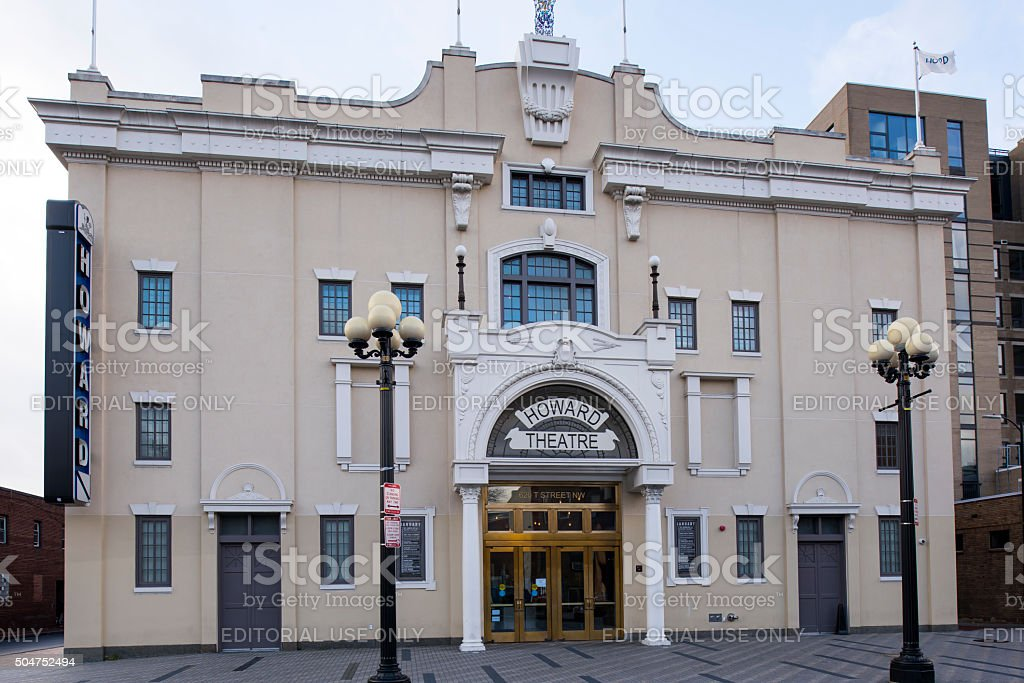 Howard Theatre with tilt-shift effect stock photo