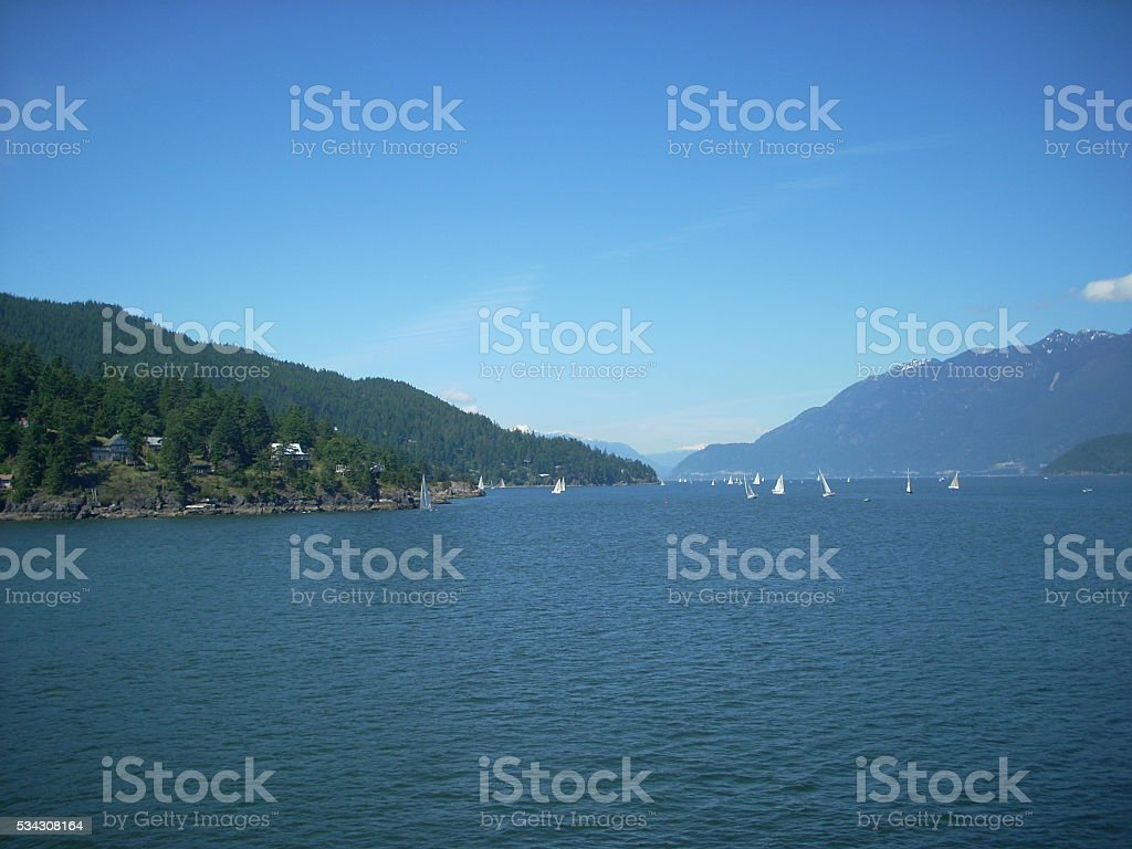 Howe Sound in Canada stock photo