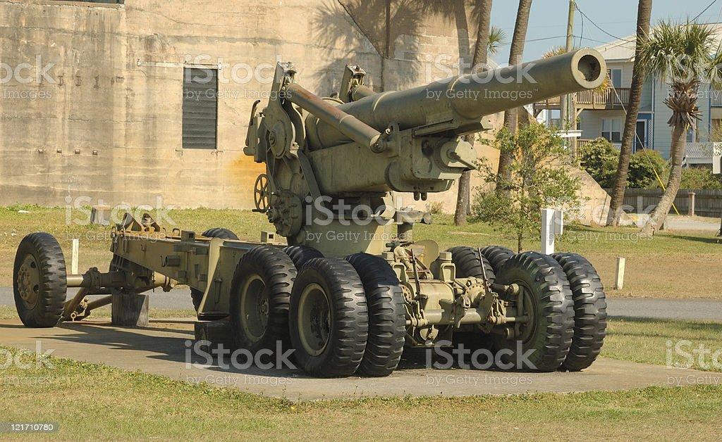 Howitzer cannon stock photo