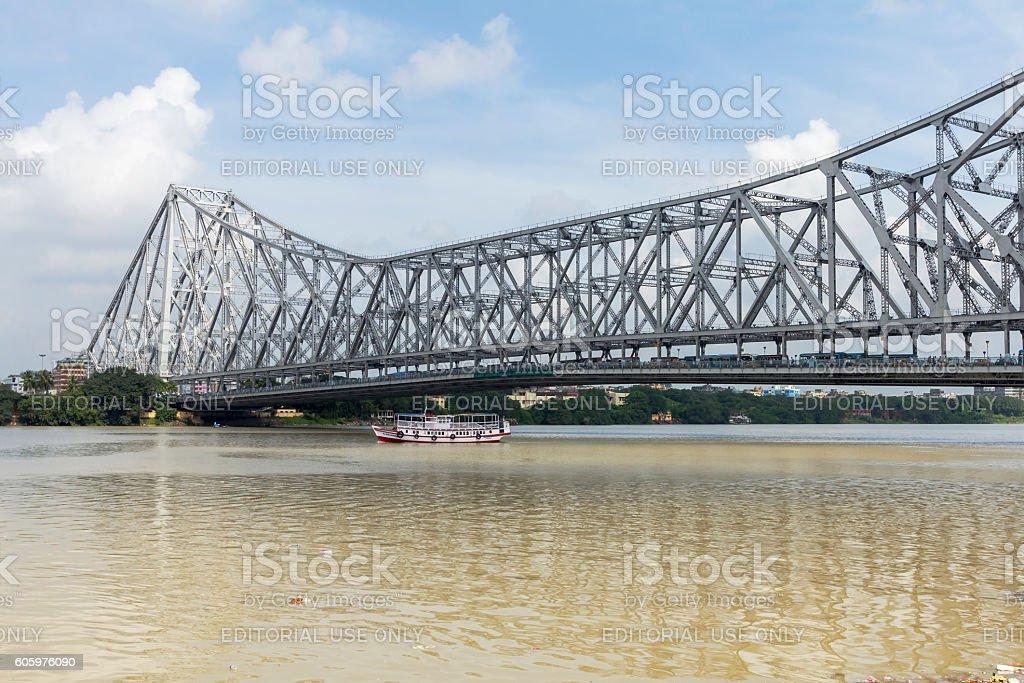 Howrah Bridge, Kolkata, India stock photo