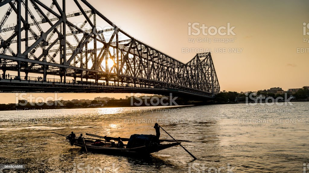 Howrah bridge. royalty-free stock photo