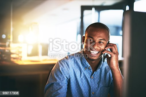 936117940 istock photo How's work going? Great! 936117938