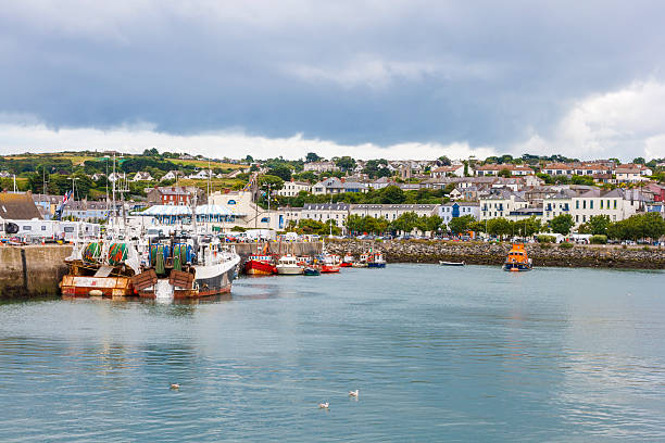 Howth harbor stock photo