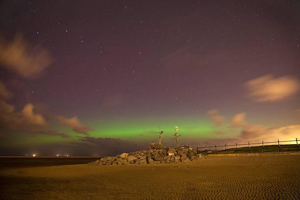Hoylake Northern Lights stock photo