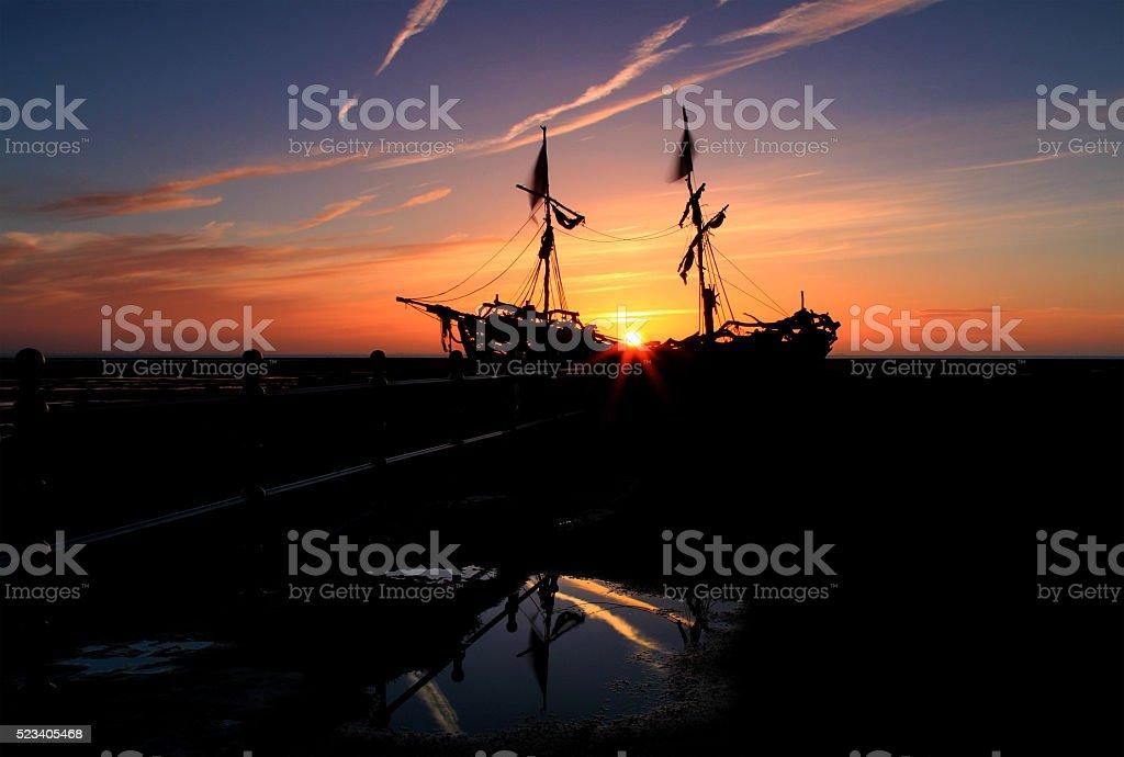 Hoylake Sunset stock photo
