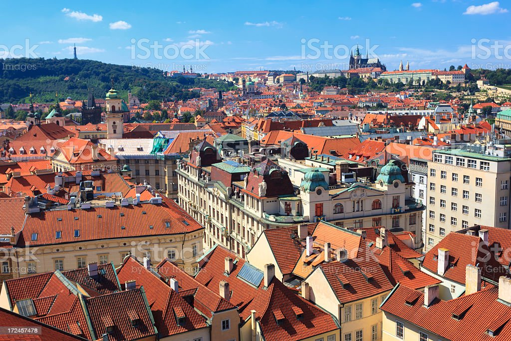 Hradcany Castle with city in foregound royalty-free stock photo