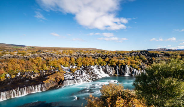 Hraunafoss Lava Wasserfälle in Island – Foto
