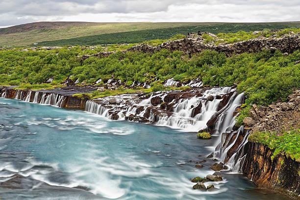 Wasserfall Hraunfossar  – Foto