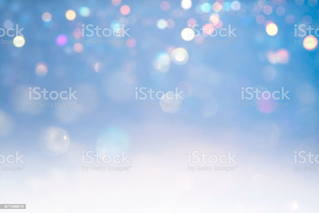 hristmas lights defocused background stock photo