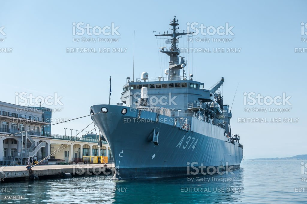 Hs Prometheus A-374 General Support Ship Etna type. stock photo