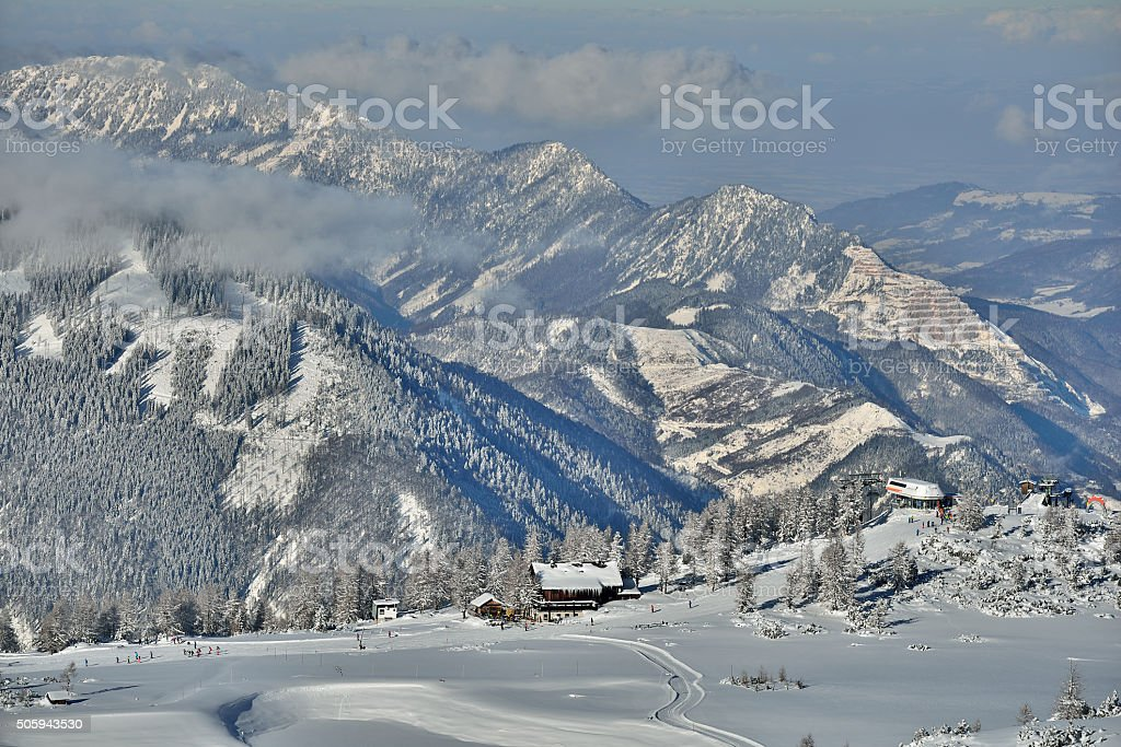 Höss-Express Bergstation in Hinterstoder (Upper Austria) stock photo