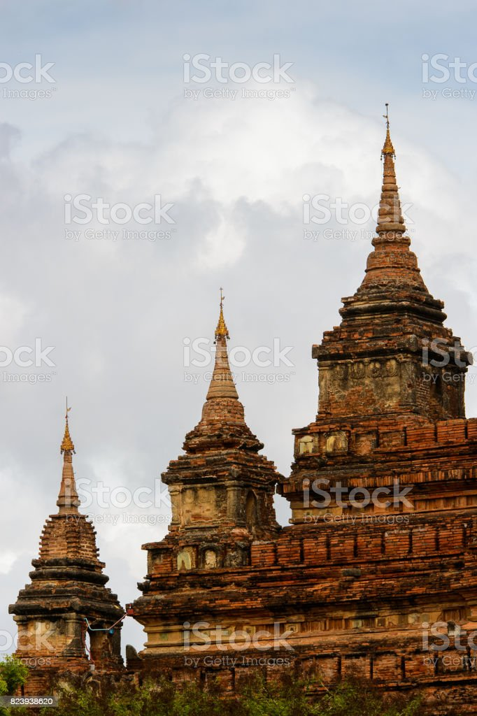 Htilominlo Temple, Bagan Archaeological Zone, Burma. It was built during the reign of King Htilominlo stock photo