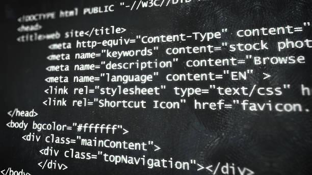 Kod html na ekranie  – zdjęcie