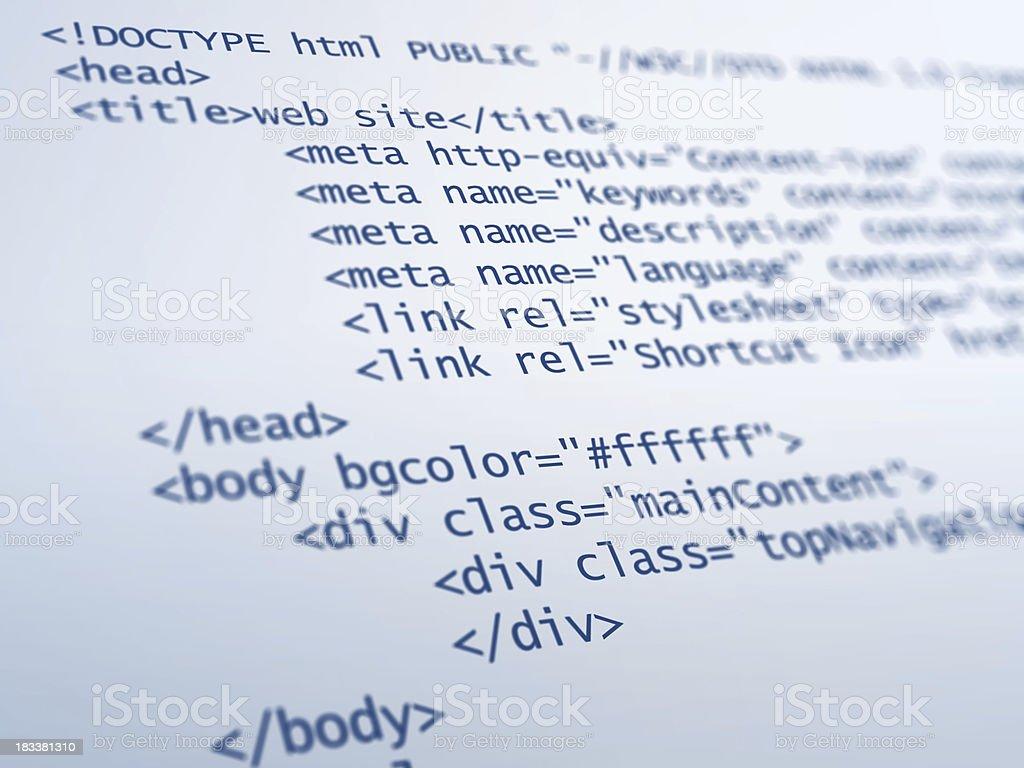 Kod html zbiór zdjęć royalty-free