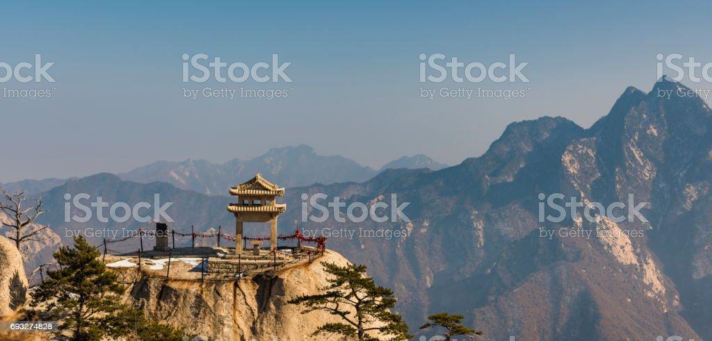 Hua Shan Mountain View stock photo