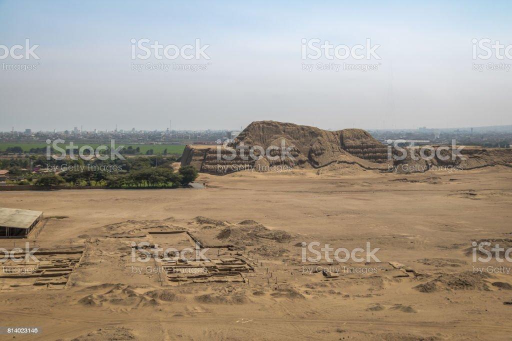 Huaca de la Luna archaeological site - Trujillo, Peru stock photo