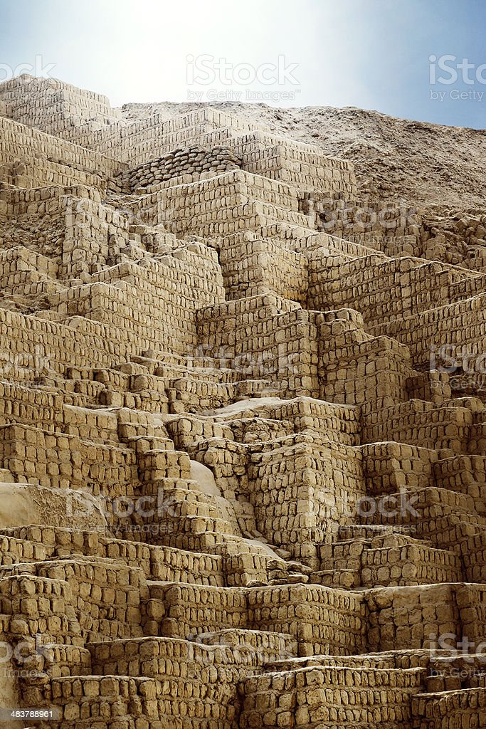 Huaca Pucllana - Lima, Peru stock photo
