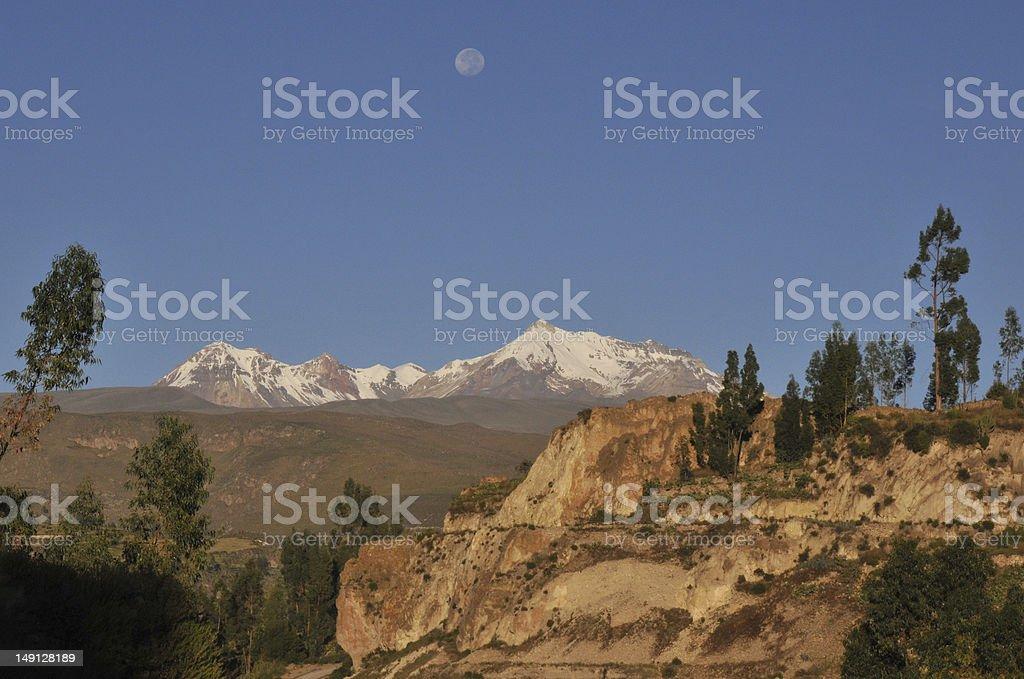 Hualcahualca volcano stock photo