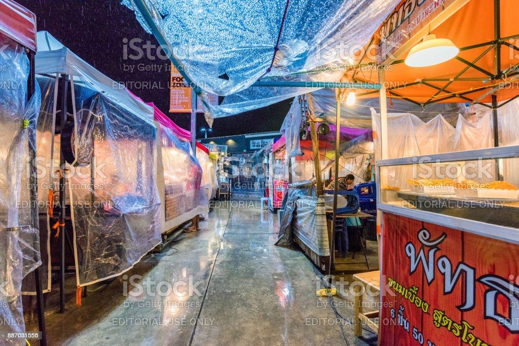 Huamum night market in Bangkok stock photo