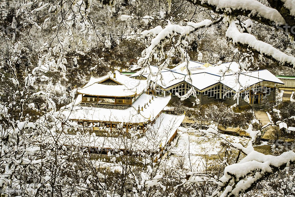 Huang long temple stock photo