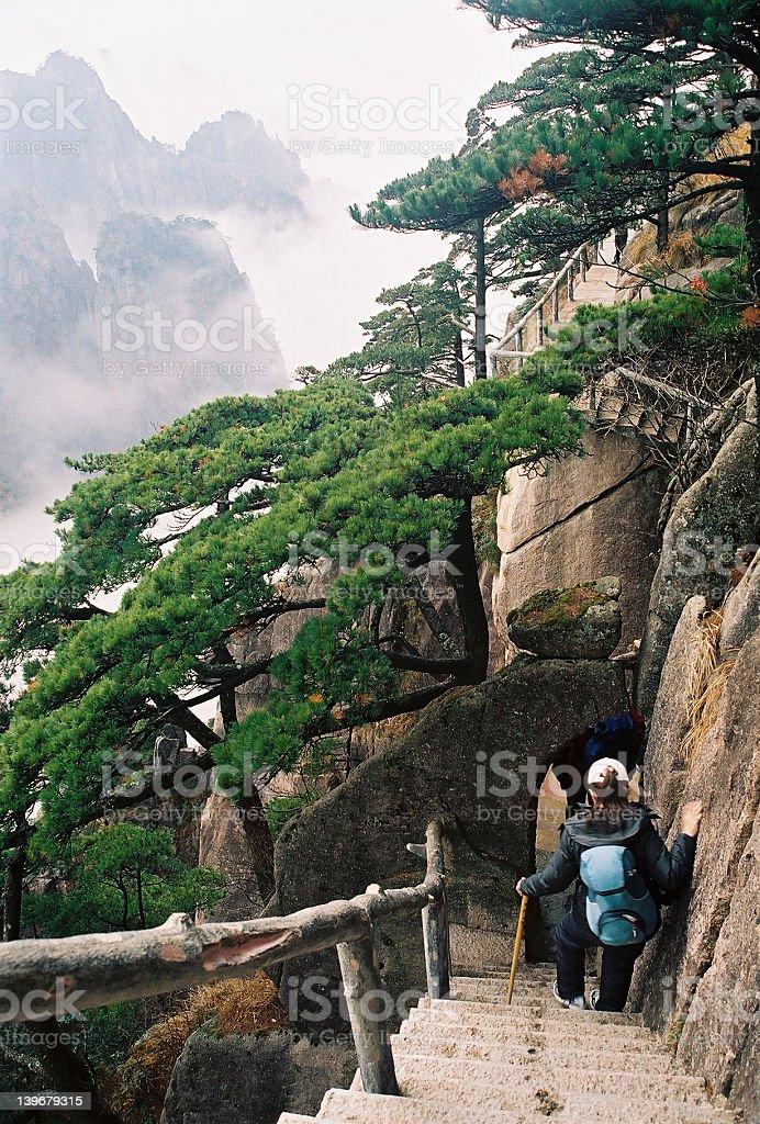 Huang Shan, Yellow Mountain, China royalty-free stock photo