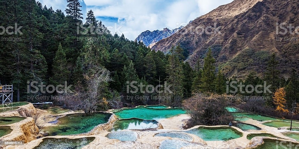 Huanglong in China stock photo