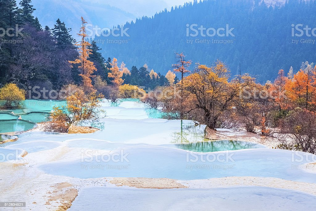 huanglong national park in autumn stock photo