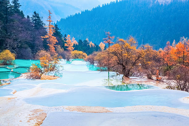 huanglong national park im Herbst – Foto