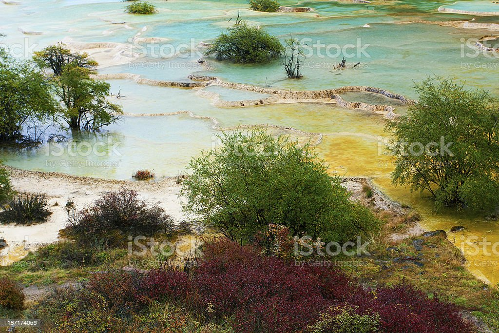 Huanglong National Park, Sichuan, China royalty-free stock photo