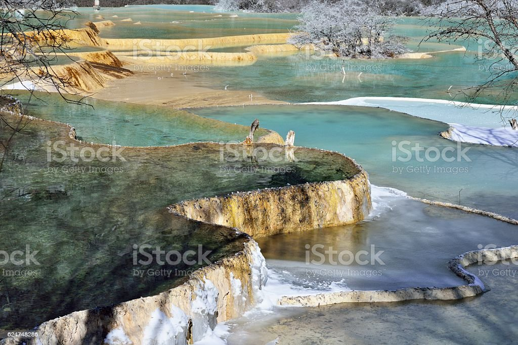 Huanglong National Scenic Reserve (Sichuan, China) stock photo